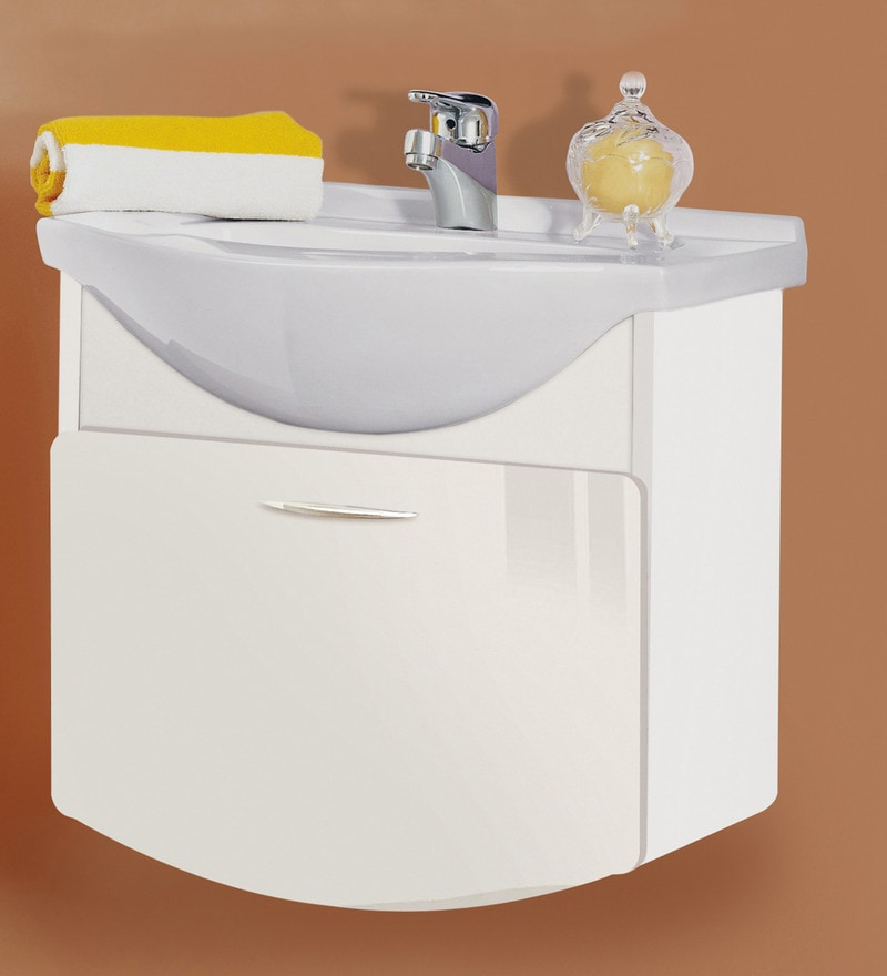 Magickwoods White PVC Wall Hung Vanity