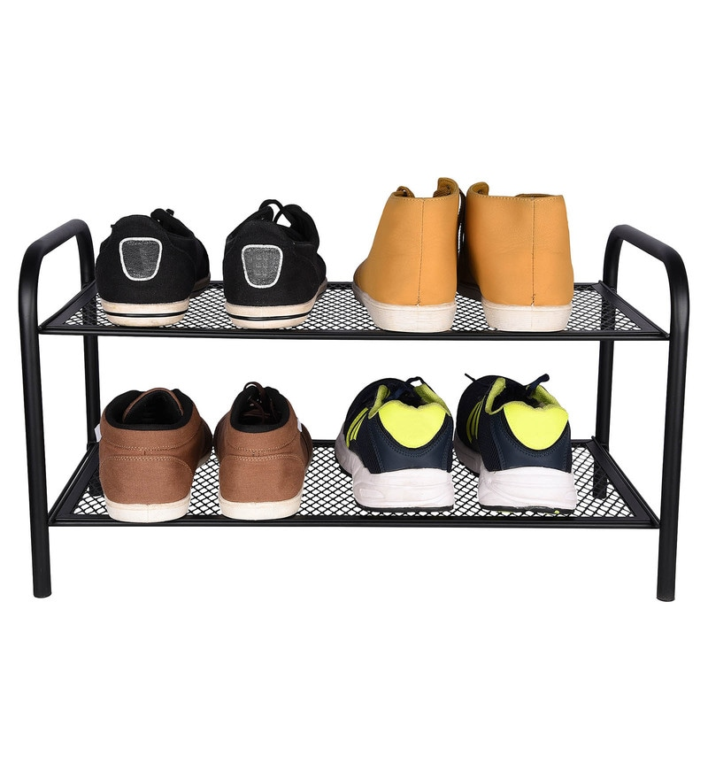 Magna Antique Look Steel Black Home Storage Rack
