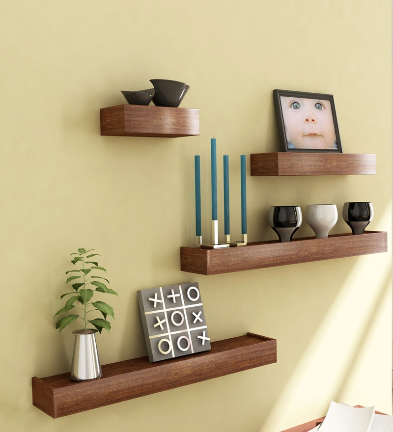 Mango Wood Set Of 4 Shelves By Market Finds Online