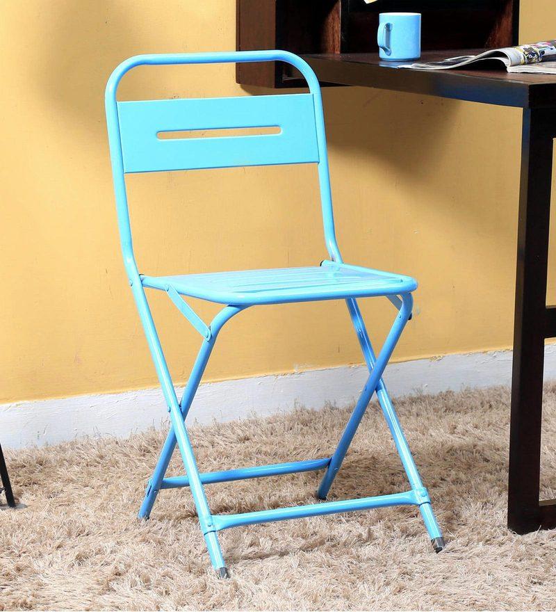 Marandoo Grunge Blue Outdoor Folding Chair by Bohemiana