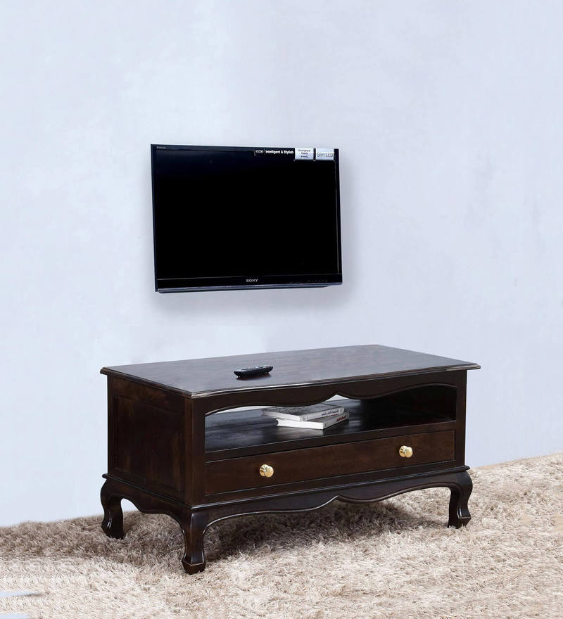 Margaret Entertainment Unit in Warm Chestnut Finish by Amberville