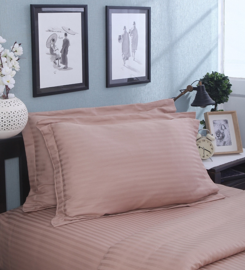 Beige Cotton Pillow Cover - Set of 2 by Mark Home