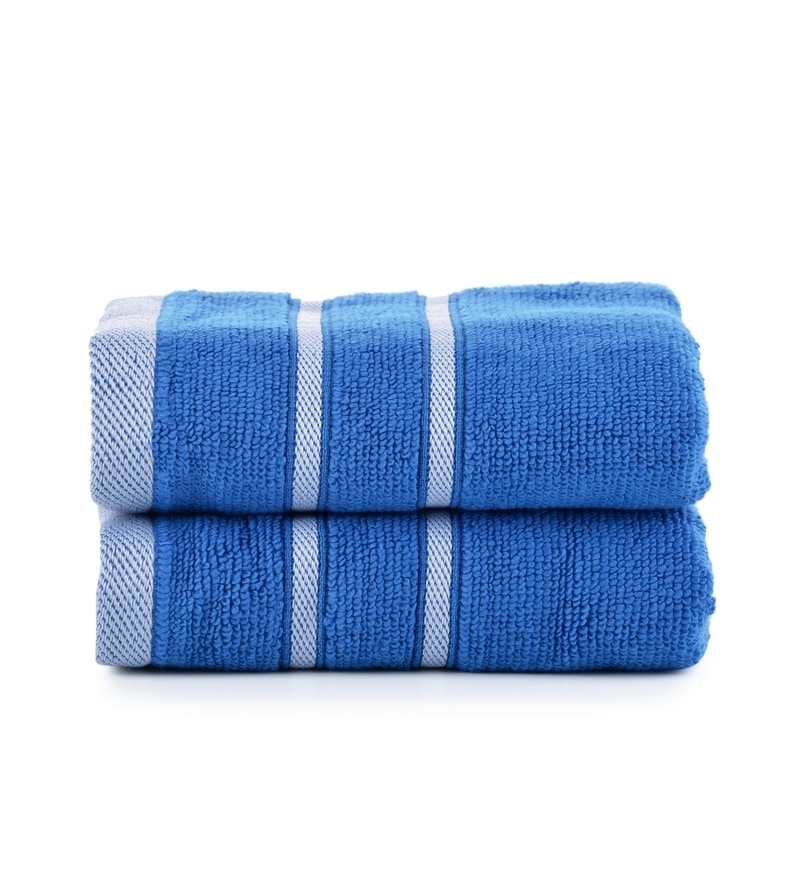 Blue Cotton Simply Soft 16 x 24 Hand Towel - Set of 2 by Mark Home