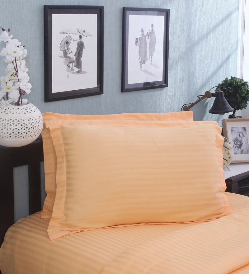 Tangerine Cotton Pillow - Set of 2 by Mark Home