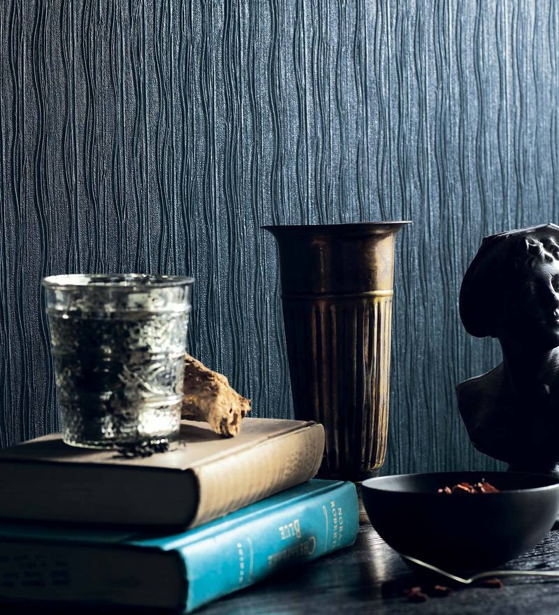 Blue Paper Backing Wallpaper by Marshalls WallCoverings