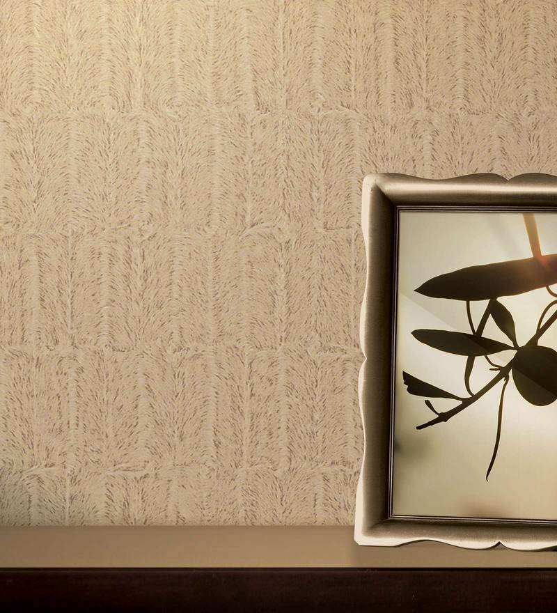 Brown & Beige Paper Backing Wallpaper by Marshalls WallCoverings