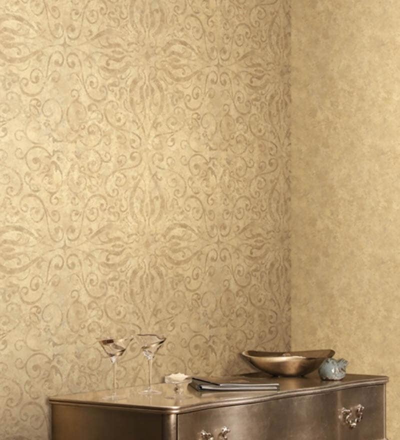 Buy Marshalls Wallcoverings Green Non Woven Fabric Wallpaper Online ...