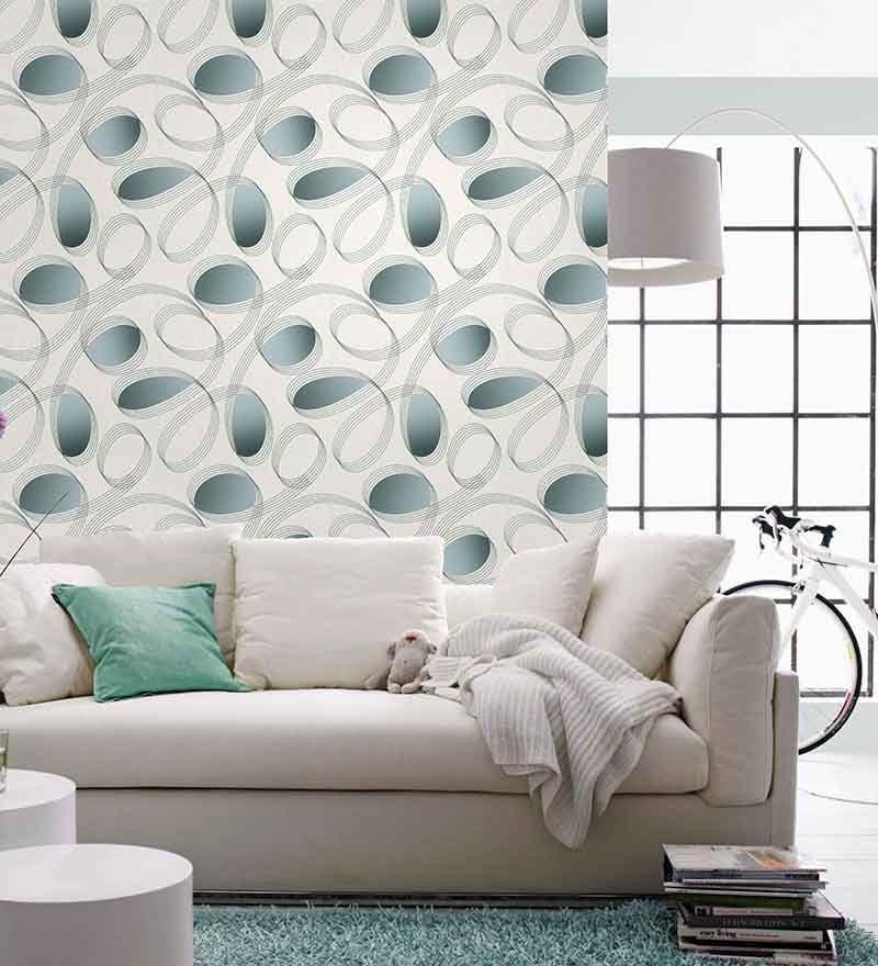 grey non woven fabric loop print wallpaper by marshalls wallcoverings