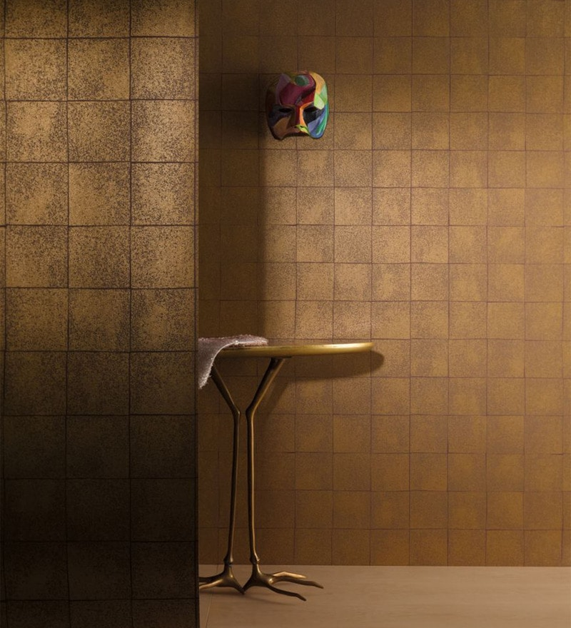 Copper Non Woven Fabric Wallpaper by Marshalls WallCoverings