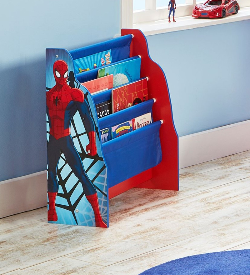 Marvel Spider Man Sling Bookcase In Blue By Cot Candy