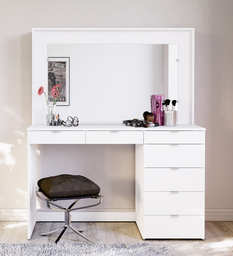 buy mayumi dressing table in white finish by mintwud. Black Bedroom Furniture Sets. Home Design Ideas