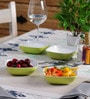 Machi Arena Green Melamine 300 ML Snack Bowl - Set Of 4