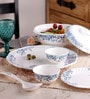 Machi Azzure Flower Melamine Dinner Set - Set Of 35