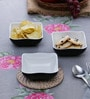 Machi Black Melamine 300 ML Designer Snack Bowl - Set of 4