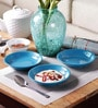 Machi Blue Melamine Dahi Bhalla Small Plates - Set Of 6