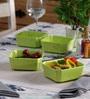 Machi Designer Green Melamine 500 ML Snack Bowl - Set Of 6