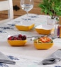 Machi Designer Yellow Melamine 300 ML Snack Bowl - Set Of 4
