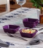 Machi Magica Purple Melamine 250 ML Bowl - Set Of 4
