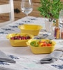 Machi Magica Yellow Melamine 600 ML Bowl - Set Of 3