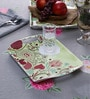 Machi Multicolour Melamine Fine Art Modish Tray - Set of 3