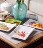 Machi Melamine Serving Platter With Chutney Trays - Set Of 5