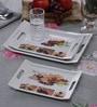 Machi Multicolour Melamine Serving Tray - Set of 3
