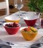 Machi Multicolour Melamine 600 ML Snack Bowl - Set Of 4
