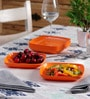 Machi Munchies Orange Melamine Medium Snack Plate - Set Of 6