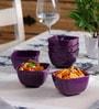 Machi Nosh Purple Melamine 300 ML Soup Bowl - Set Of 6