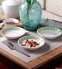 Machi Periwinkle Melamine Dahi Bhalla Small Plates - Set Of 6