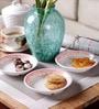 Machi Poppy Melamine Snack Plate - Set Of 6