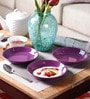 Machi Purple Melamine Dahi Bhalla Plate - Set Of 6