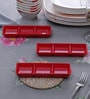 Machi Red Melamine Sauce Dish - Set of 6