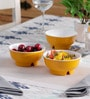 Machi Yellow Melamine 350 ML Snack Bowl - Set Of 3