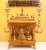 Madhurya Brown Teak Wood Pooja Mantap