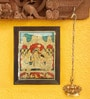 Madhurya Multicolour Gold Plated 18 X 24 Inch Krishna Darbar Framed Tanjore Painting