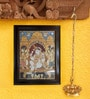 Madhurya Multicolour Gold Plated Lord Krishna with Gopikas Framed Tanjore Painting
