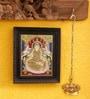 Madhurya Multicolour Gold Plated 15.5 X 2 X 18.5 Gajalakshmi Framed Tanjore Painting