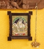 Madhurya Multicolour Gold Plated Bal Krishna Framed Tanjore Painting