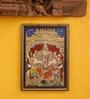 Madhurya Multicolour Gold Plated Mahishasur Mardini Framed Tanjore Painting