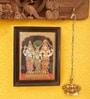 Madhurya Multicolour Gold Plated Meenakshi Kalyanam Framed Tanjore Painting