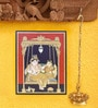 Madhurya Multicolour Gold Plated Radha Krishna Unframed Tanjore Painting