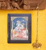 Madhurya Multicolour Gold Plated Radha Krishna Framed Tanjore Painting