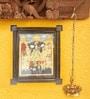 Madhurya Multicolour Gold Plated Rama Patta Abhishekam Framed Tanjore Painting