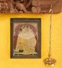 Madhurya Multicolour Gold Plated Yashoda & Krishna Framed Tanjore Painting