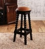 Magdalen Bar Stool in Espresso Walnut Finish by Amberville