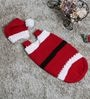 Magic Needles Exclusive Santa Sleep Sack Cocoon with Cap in Red Colour