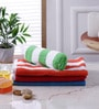 Magna Multicolour Cotton 15 x 24 Hand Towel- Set of 4