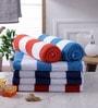 Magna Multicolour Cotton 29 x 57 Bath Towel - Set of 6