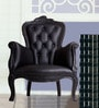 Magnificent Accent Chair in Black Leatherette by Dreamzz Furniture